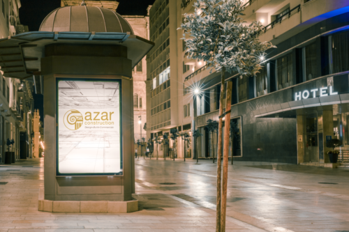 azar construction outdoor sign