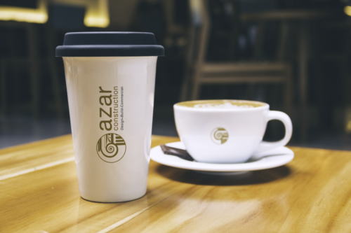 azar construction coffee cup