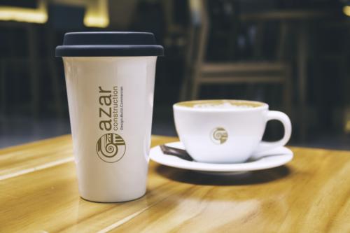 azar construction coffee cup