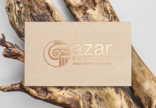 azar construction business card
