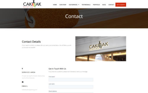 cakmakpainting.com contact page