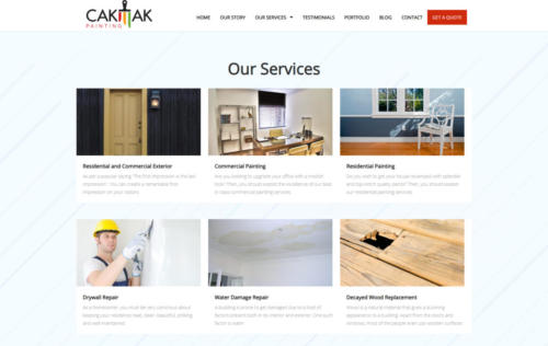 cakmakpainting.com services page