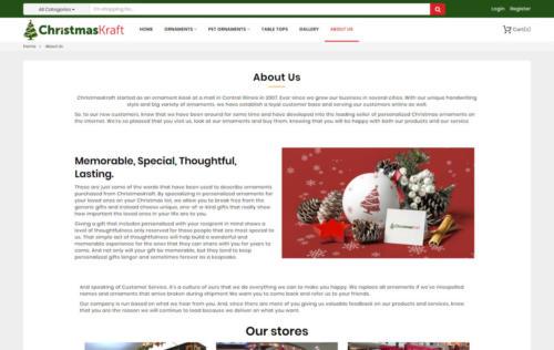 christmas kraft page
